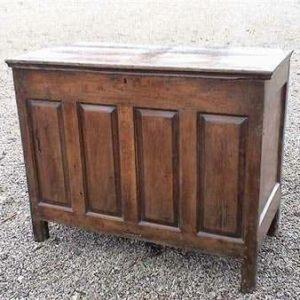 Oak Coffer, 18th century Side